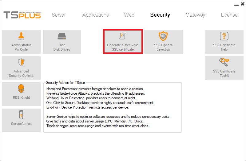 Obtaining The Ssl Certificate Terminal Server