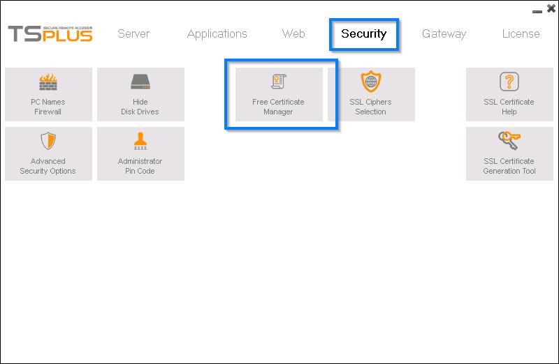 Obtención del certificado SSL